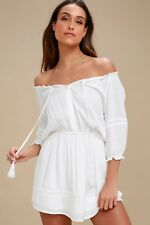 LULUS - Zappa White Off Shoulder Long Sleeve Dress Revolve ASOS - M NWT