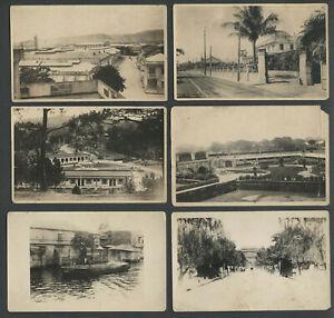 Philippines: Lot Six 1920s RPPC Real Photo Postcards BETTER MANILA VIEWS BLDGS.