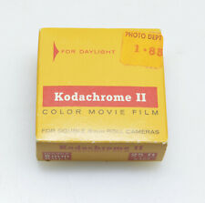 Kodachrome II 25ft. Daylight Double 8mm Color Movie Film, or 16mm Single Run