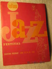 1961 Program Indiana Jazz Festival Evansville In Brubeck Ellington Signed Torme