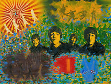 The Beatles,John Lennon Paul McCartney, George Harrison, Ringo Star, oil on canv