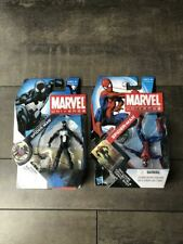 "MARVEL UNIVERSE 3.75"" Black Costume Spiderman 018 Spiderman 007 lot"
