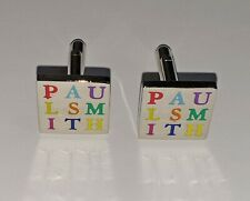Paul Smith Cufflinks (Genuine official square multicoloured) Silver brass