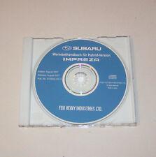 Werkstatthandbuch auf CD Subaru Impreza - Modelljahr 2008!