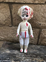 OOAK Living Dead Doll Satanic Nurse Repaint Creepy Horror Doll Art Creepydolls