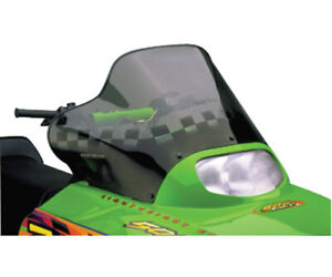 Powermadd 12230 Cobra Windshield - 15in. - Tint/Black Checks