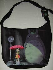 Nwt Studio Ghibli My Neighbor Totoro Rain Bus Stop Scene Japanese Anime Hobo Bag