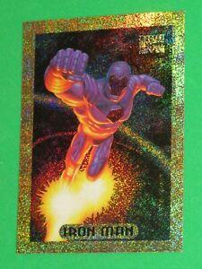 1994 MARVEL MASTERPIECES HOLOFOIL GOLD INSERT CARD IRON MAN #5 AVENGERS!