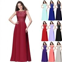 Evening Long Prom Dress Formal Party Ball Gown Bridesmaid Lace Mother Gown US