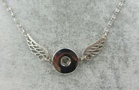 Hot 1pcs women jewelry Necklace pendant fit 18mm noosa snap button wing