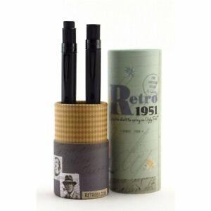 Retro 51 Tornado Rollerball and Pencil Set - Black Stealth VRS-1701