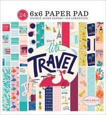 Carta Bella LET'S TRAVEL 6x6 Paper Pad 24pc Vacation  World Summer