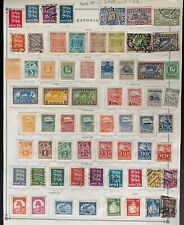 ESTONIA. Comprehensive pre-1940 collection. Mint and used. $305.00 CV.