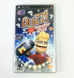 Buzz Master Quiz Sony For PSP UMD Trivia Manual and Case included