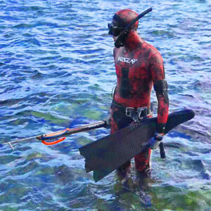 3mm/5mm Red Camouflage Wetsuit Spearfishing Diving Suit Wetsuit Fishing Hunting