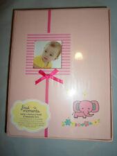 First Moments Babys Girls Pink Floral Memory Book Keepsake Storage Box Sealed