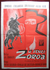 1962 Original Movie Poster Shades of Zorro L'ombra Hero Mask Frank Latimore