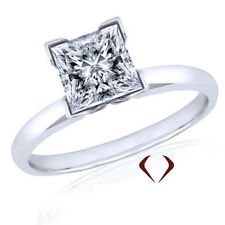 0.74 CT H SI1 14K PRINCESS CUT DIAMOND RING