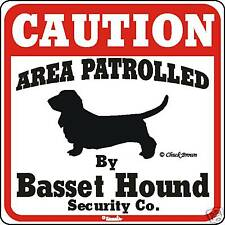 Basset Hound Caution Dog Sign
