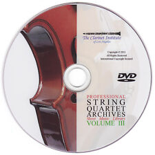 String Quartet Sheet Music Volume 3 DVD PDF