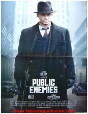 PUBLIC ENEMIES Affiche Cinéma / Movie Poster JONNHY DEPP / CHRISTIAN BALE