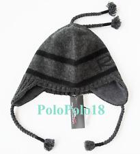 72463b88066 Ralph Lauren RLX 100 Lambs Wool Tassel Beanie Hat L xl