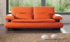 ESF Furniture 410 Chic Flare Orange Italian Leather Sofa Contemporary