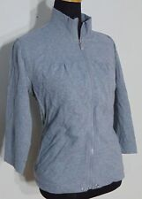 Style&Co Sport Women's Gray Knit Zip Front Mock Turtleneck Workout Jacket Size L