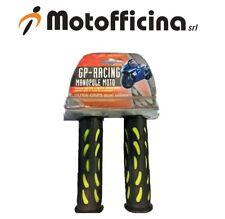 MANOPOLE MOTO GP-RACING NERO/GIALLO IN GOMMA LAMPA COD. 90302