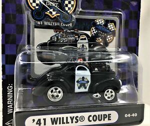 Muscle Machines Police Series * 1941 Willys Coupe* New On Card* 1:64