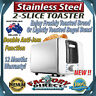 NEW! Stainless Steel 2 Slice Toaster 870W Anti-Jam Function 12 Months Warranty!