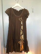 Diane von Furstenberg brown dress with gold sequins in size 6