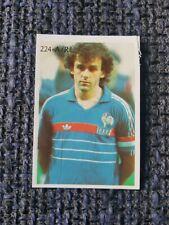 France MICHEL PLATINI collectable football trade card Sun Soccercards No 151