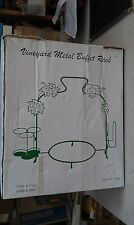 "8Uu54 Vineyard Metal Buffet Rack, Green, Steel Wire, About 20"" Tall, Very Good"