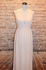 Modcloth Glamour Out the Details Maxi Tfnc NWT S pale pink pleatst back criss