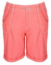 Autograph Coral Long roll hem POCKETS belt loops zip front SHORTS 22 pockets NEW