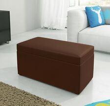 Hocker Sitzhocker Sitzwürfel Kunstleder 80x40x40cm mit Aufbewahrungsfach