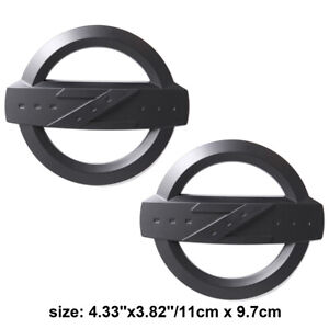 2x Black Z Emblem Car Front Rear Trunk ABS Badge Fit Fairlady 350Z 370Z Z33 34