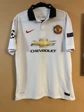 Manchester United WHITE CHEVROLET Nike Authentic Polo Dri-Fit #10 Rooney
