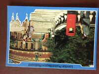 b1v postcard unused royal mail post box albert hall london