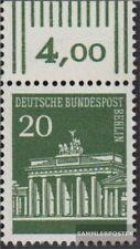 Berlin (West) 287 Oberrandstück postfrisch 1966 Brandenburger Tor