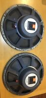 Closely Matched Pair of JBL 2205B Speakers (Serial ## 10507 and 10511)
