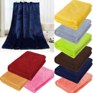 Baby Kid Soft Warm Plain Fleece Towel Home Sofa Bedroom Throws Rug 50*70cm j