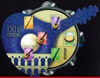 """20-06 BRAZIL 2020 - 150 YEARS OF """"CHORINHO"""", MUSIC, MUSICAL INSTRUMENTS, S/S MNH"""