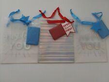 """Lot of 3 Desing focus Gift Bags 1 Red - 2 x Blue 10"""" x 8"""" each"""