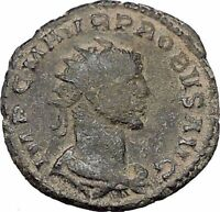 Probus  receiving Victory  on globe from Jupiter RARE Ancient  Roman Coin i47044