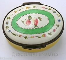 Halcyon Days Enamels Fruits & Flowers British Museum Replica Enamel Box