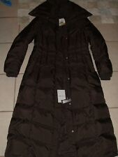 Cole Haan  NWT BROWN Chocolate Down Quilted maxi Women's Coat size L