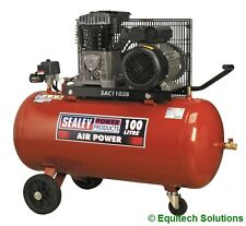 Sealey Tools SAC1103B Air Compressor 100 Litre 3HP Belt Drive Cast Cylinders New
