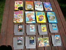 Lot of NES Nintendo Game Cartridges SUPER MARIO BROS 1 2 3 Tyson Punch Out, etc